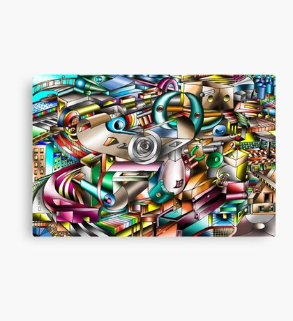 The illusion of City life Canvas Print