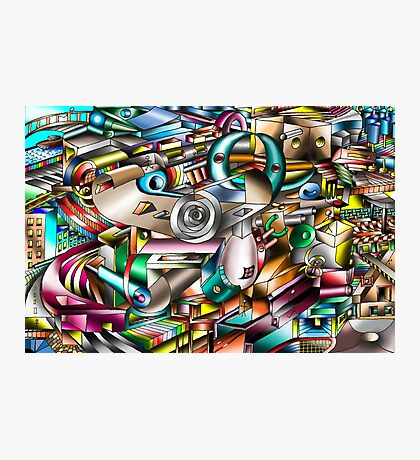 The illusion of City life Photographic Print