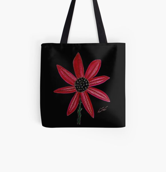 Red Flower by William Solis All Over Print Tote Bag