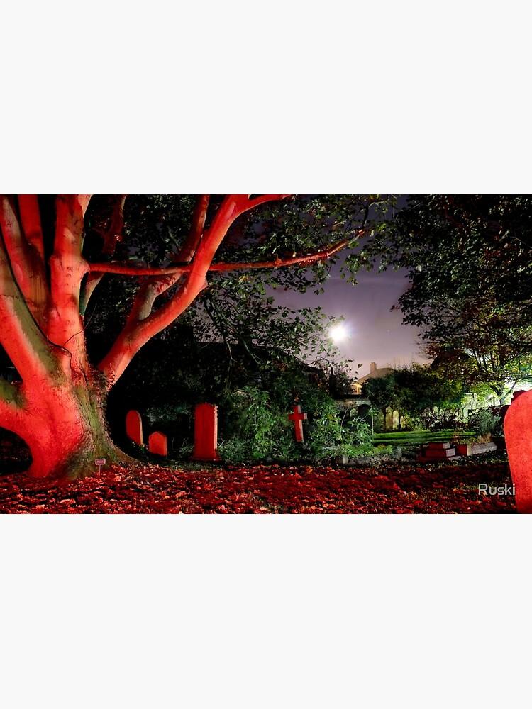 Graveyard at Midnight by Ruski
