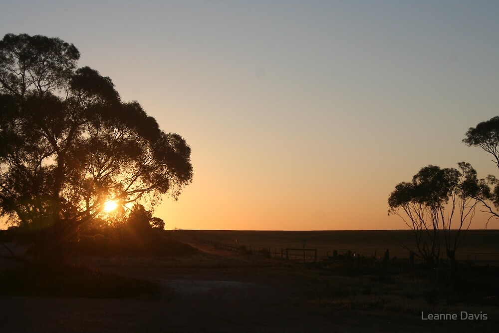 Sunset over South Australia by Leanne Davis