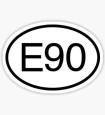 Oval e90 Sticker Sticker