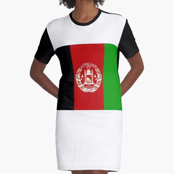 Flag Afghanistan Graphic T-Shirt Dress