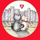 I love you (Cats in New York) by nelinda