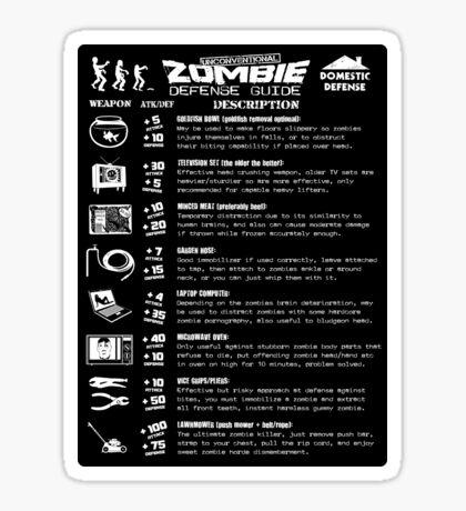 Zombie Defense Guide Sticker