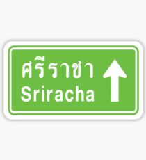 Sriracha, Thailand Ahead ⚠ Thai Traffic Sign ⚠ Sticker