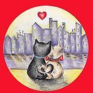 I love you (Cats in New York) Be My Valentine by nelinda