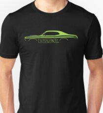 Car silhouette for Plymouth Duster 340 lime green enthusiasts Unisex T-Shirt