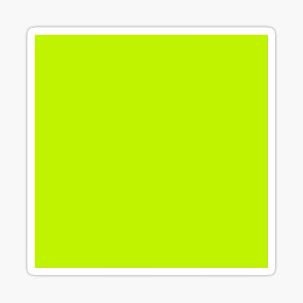 Bitter Lime Neon Green Solid Color Sticker