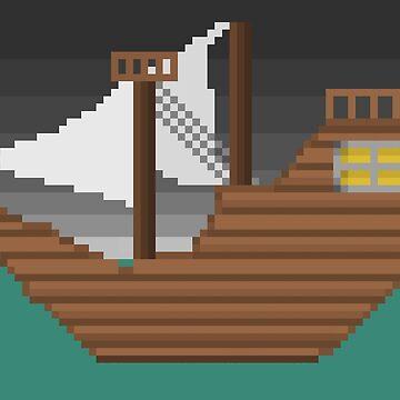 Pixel Boat by darkdude5555
