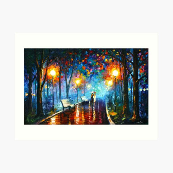 MISTY MOOD - Leonid Afremov Art Print