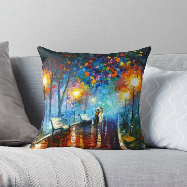 MISTY MOOD - Leonid Afremov Throw Pillow