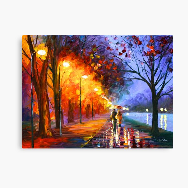 ALLEY BY THE LAKE - Leonid Afremov Canvas Print