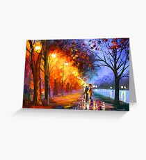 ALLEY BY THE LAKE - Leonid Afremov Greeting Card