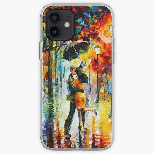 DANCE UNDER THE RAIN - Leonid Afremov iPhone Soft Case