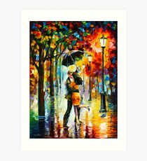 DANCE UNDER THE RAIN - Leonid Afremov Art Print