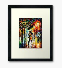 DANCE UNDER THE RAIN - Leonid Afremov Framed Print
