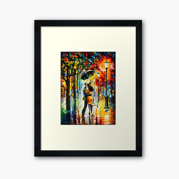 DANCE UNDER THE RAIN - Leonid Afremov Framed Art Print