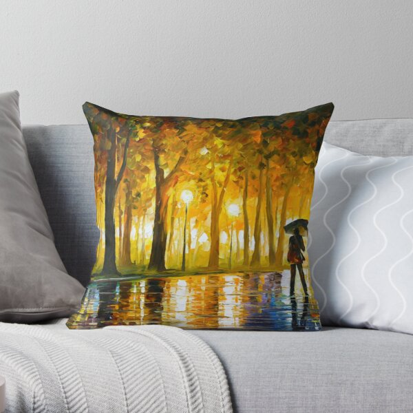 BEWITCHED PARK - Leonid Afremov Throw Pillow