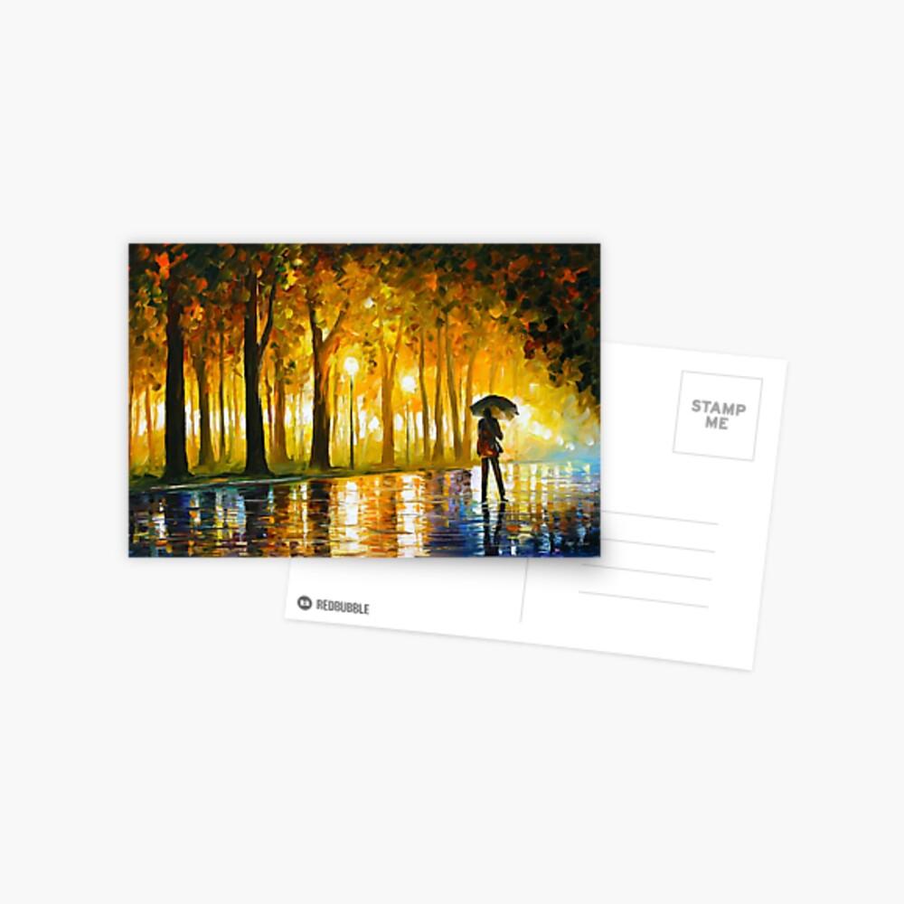 BEWICKELTER PARK - Leonid Afremov Postkarte