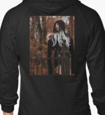 Gothic Graveyard Girl Zipped Hoodie