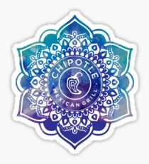 Watercolor Chipotle Mandala Sticker
