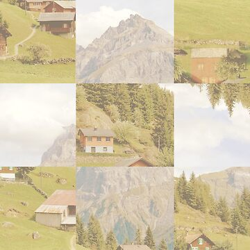 Abstract Mountain and Sky Photo Collage by devonguinn