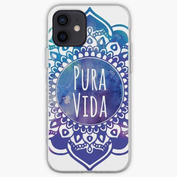 Pura Vida Watercolor Mandala iPhone Soft Case