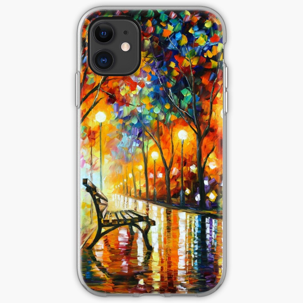 THE LONELINESS OF AUTUMN - Leonid Afremov iPhone Case & Cover