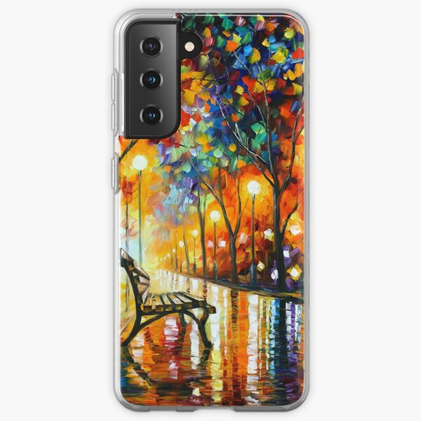 THE LONELINESS OF AUTUMN - Leonid Afremov Samsung Galaxy Soft Case
