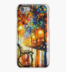 THE LONELINESS OF AUTUMN - Leonid Afremov iPhone Case/Skin