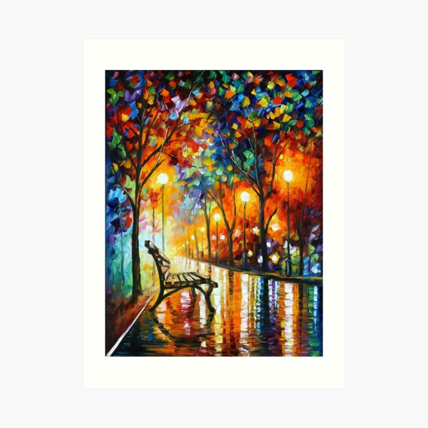 THE LONELINESS OF AUTUMN - Leonid Afremov Art Print