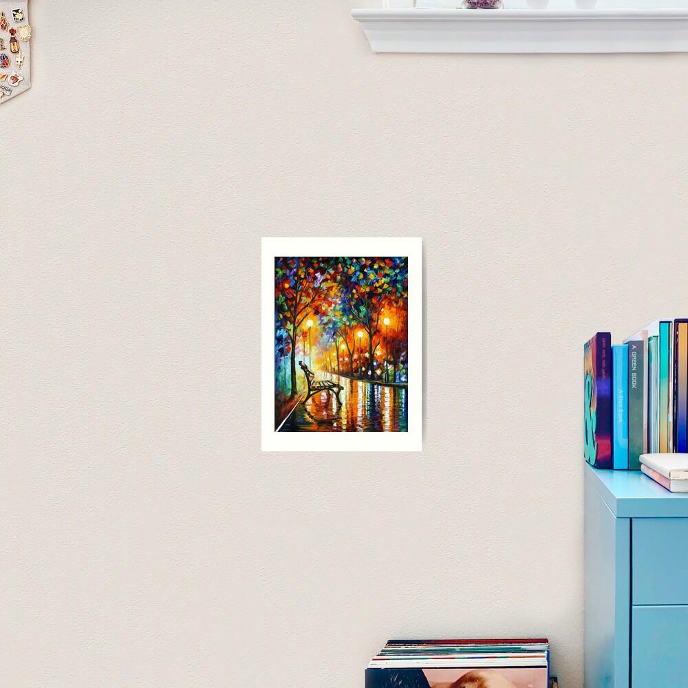 THE LONELINESS OF AUTUMN - Leonid Afremov Art Print