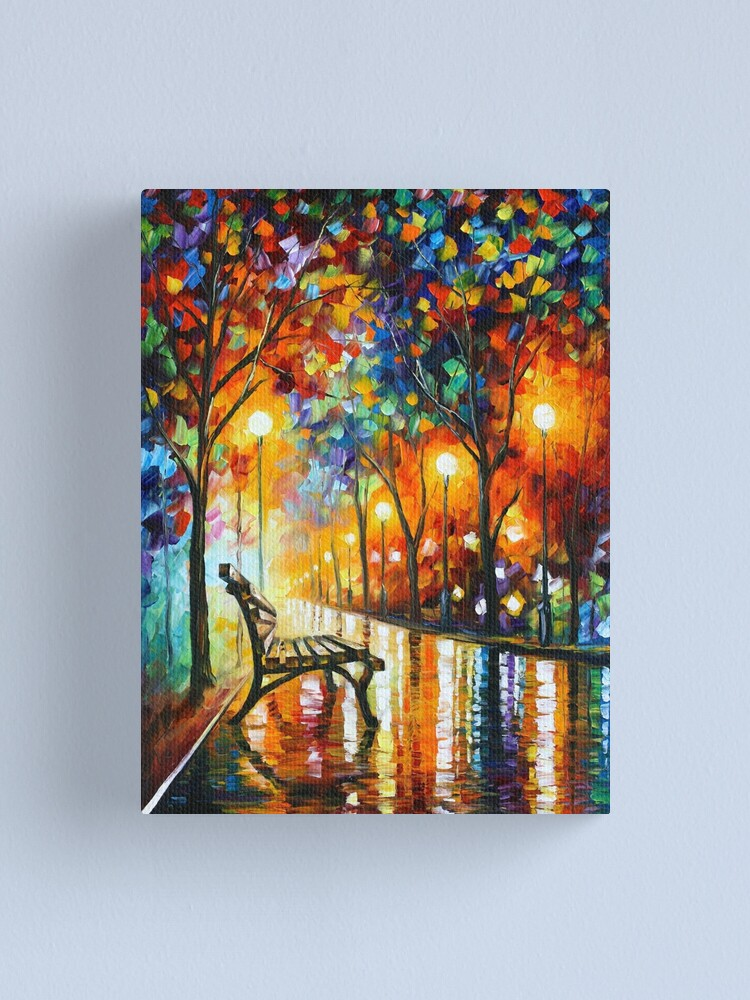 Alternate view of THE LONELINESS OF AUTUMN - Leonid Afremov Canvas Print