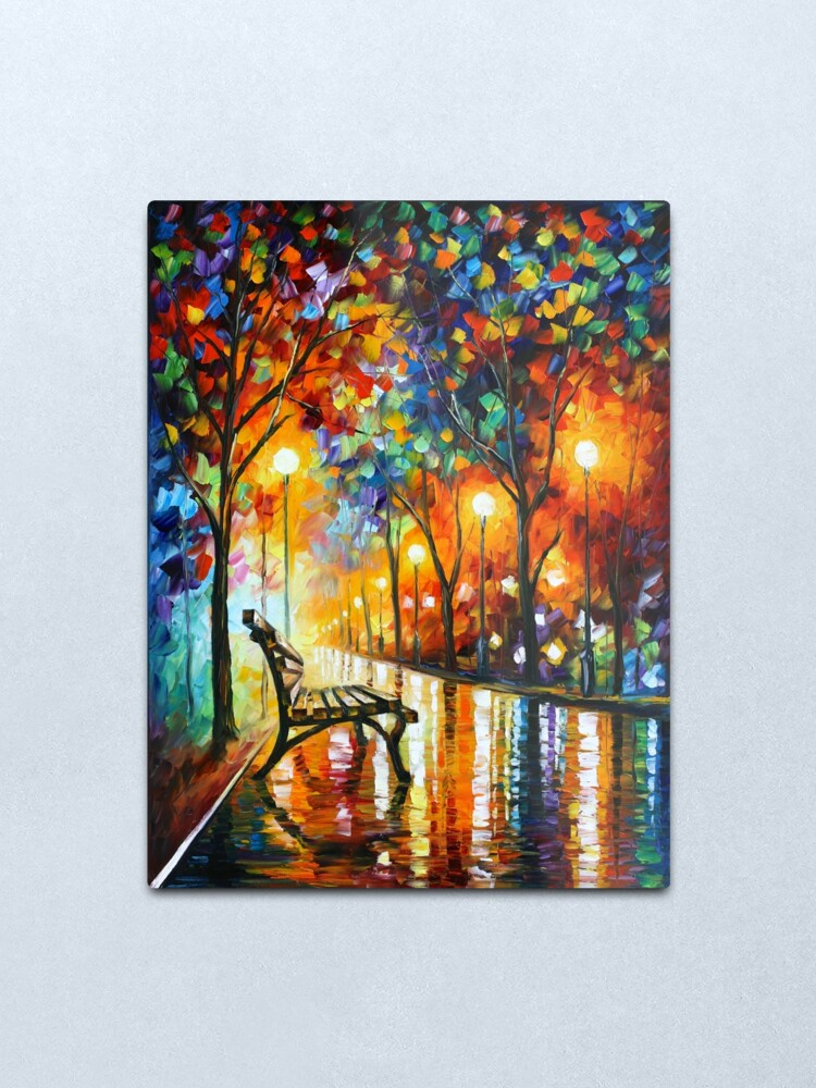 Alternate view of THE LONELINESS OF AUTUMN - Leonid Afremov Metal Print