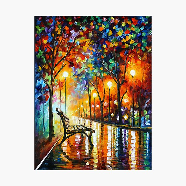 THE LONELINESS OF AUTUMN - Leonid Afremov Photographic Print