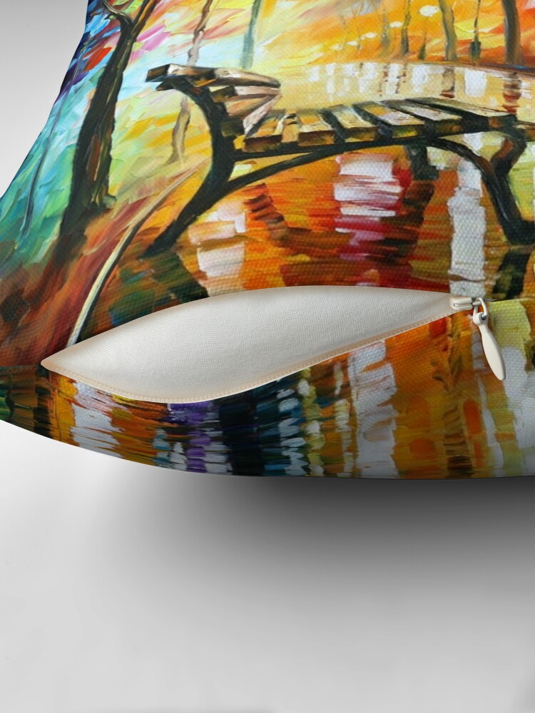 Alternate view of THE LONELINESS OF AUTUMN - Leonid Afremov Throw Pillow