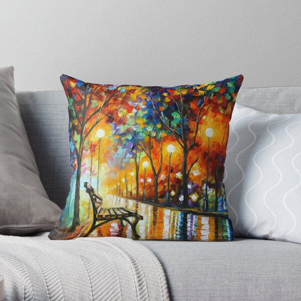 THE LONELINESS OF AUTUMN - Leonid Afremov Throw Pillow