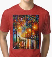 THE LONELINESS OF AUTUMN - Leonid Afremov Tri-blend T-Shirt