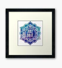 Just Do It Nike Mandala Framed Print