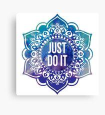 Just Do It Nike Mandala Canvas Print