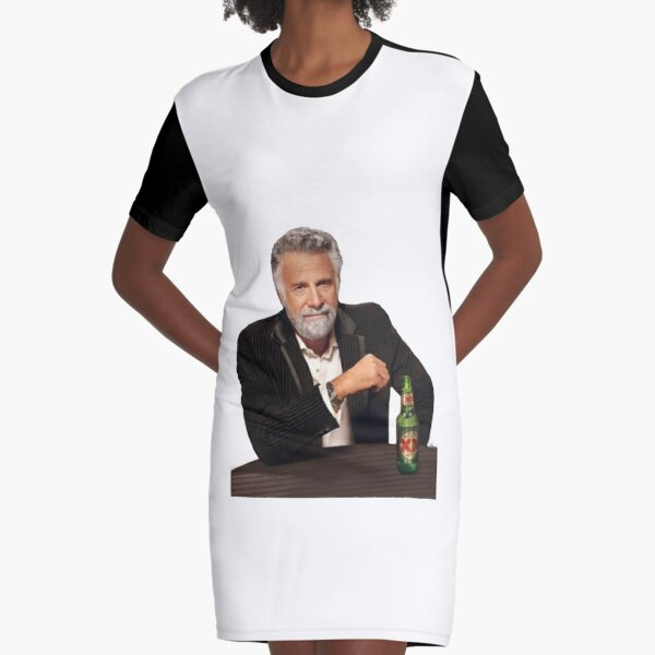 Dos Equis Man - The Most Interesting Man In The World Meme Graphic T-Shirt Dress