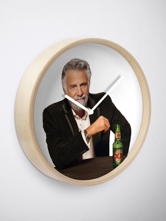 Alternate view of Dos Equis Man - The Most Interesting Man In The World Meme Clock