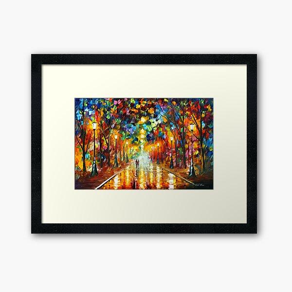 FAREWELL TO ANGER - Leonid Afremov Framed Art Print