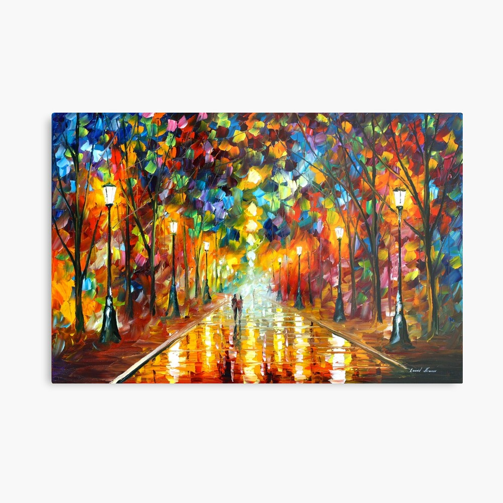 FAREWELL TO ANGER - Leonid Afremov Metal Print