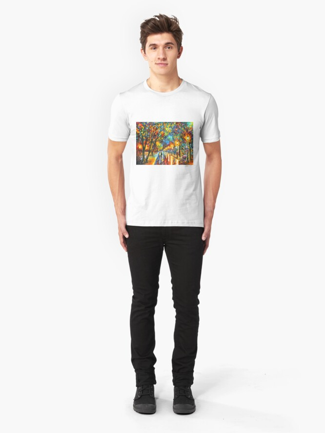 Alternate view of WHEN THE DREMS CAME TRUE - Leonid Afremov Slim Fit T-Shirt