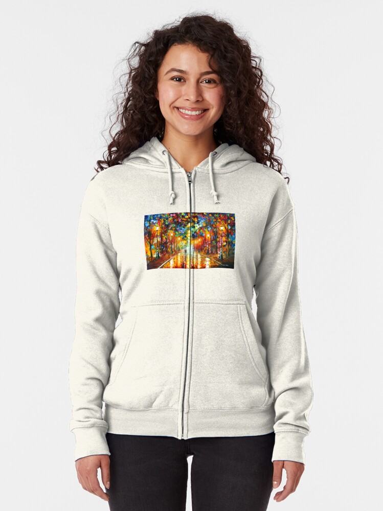 Alternate view of FAREWELL TO ANGER - Leonid Afremov Zipped Hoodie