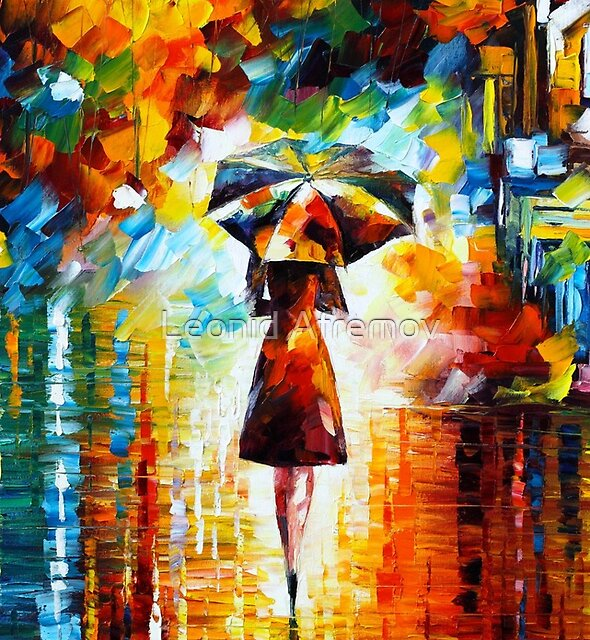 rain princess - Leonid Afremov by Leonid Afremov