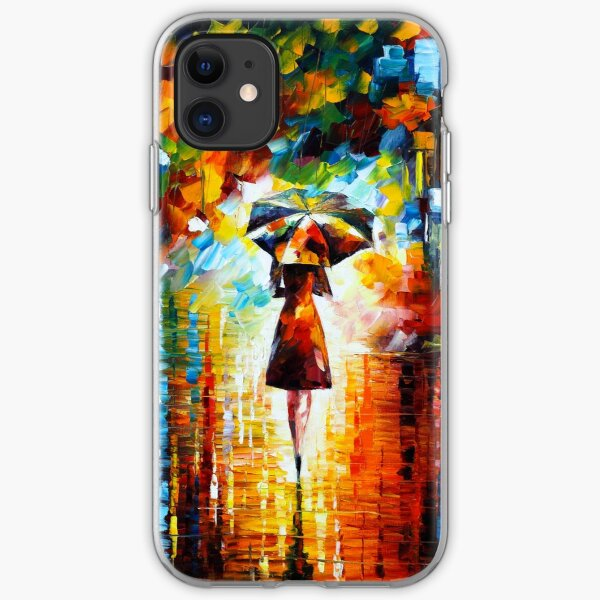 rain princess - Leonid Afremov iPhone Soft Case