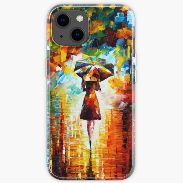 rain princess - Leonid Afremov iPhone Soft Case